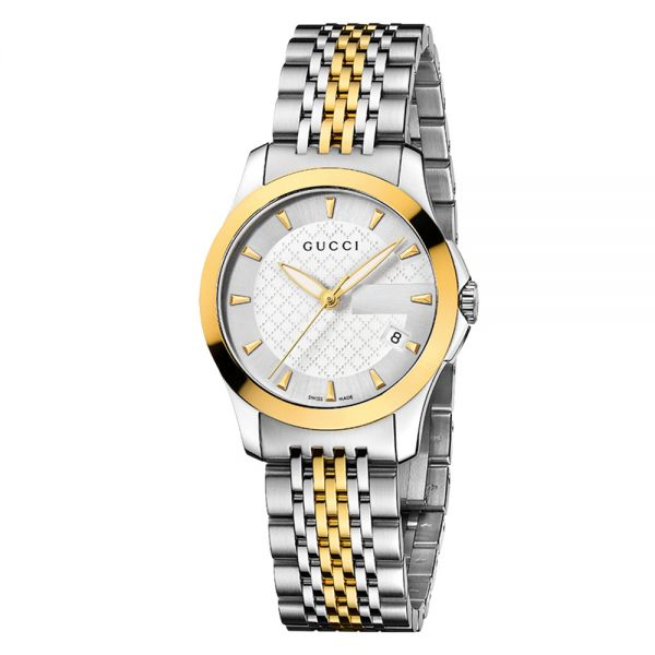 Gucci G-Timeless Ladies Steel and Yellow Gold PVD Watch