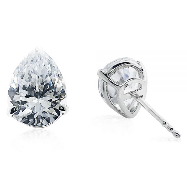CARAT* London 9k White Gold 1ct Cecile Pear Studs