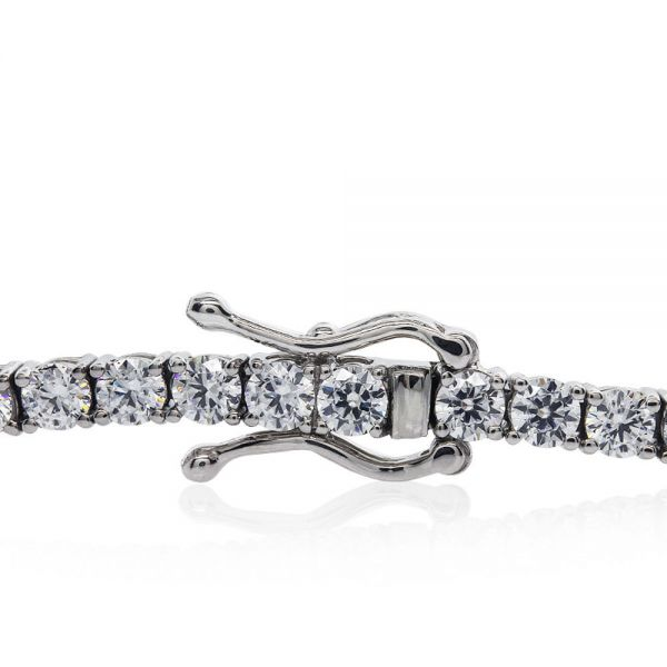 CARAT* London Sterling Silver Hailey Round Prong Tennis Bracelet