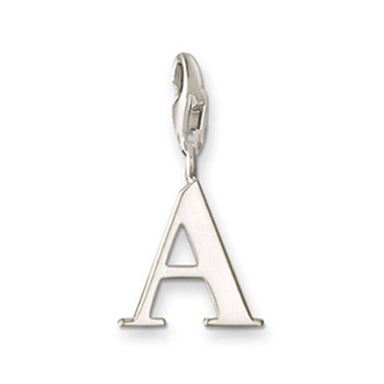 Thomas Sabo Sterling Silver Letter A Charm with lobster clasp