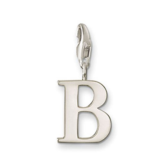 Thomas Sabo Sterling Silver Letter B Charm