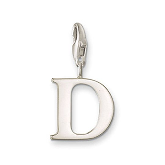 Thomas Sabo Sterling Silver Letter D Charm with lobster clasp