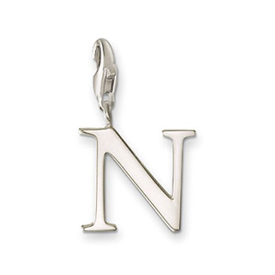 Thomas Sabo Sterling Silver Letter N Charm