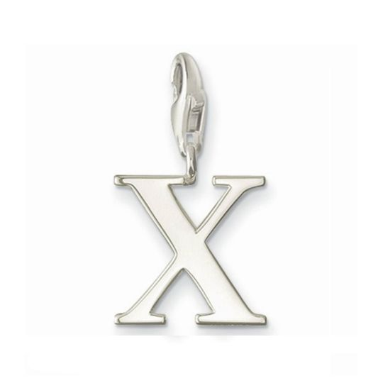 Thomas Sabo Sterling Silver Letter X Charm with lobster clasp