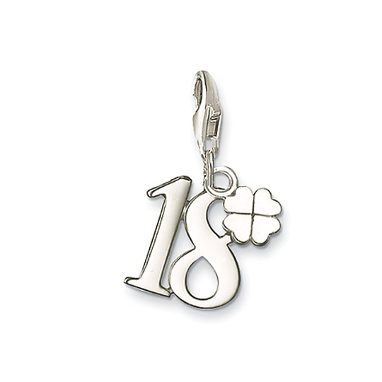 Thomas Sabo Sterling Silver Lucky Number 18 Charm