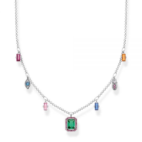 Thomas Sabo Sterling Silver Colourful Lucky Symbols Necklace