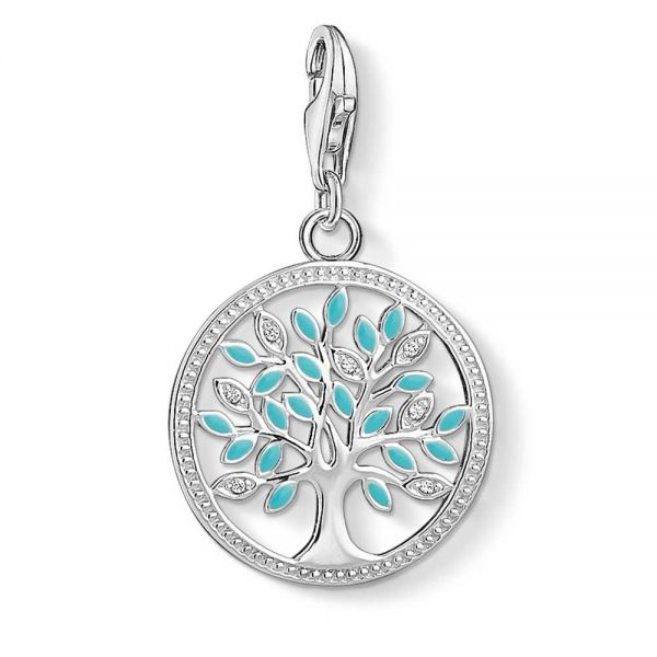 Thomas Sabo Sterling Silver, CZ & Enamel Tree Of Love Charm