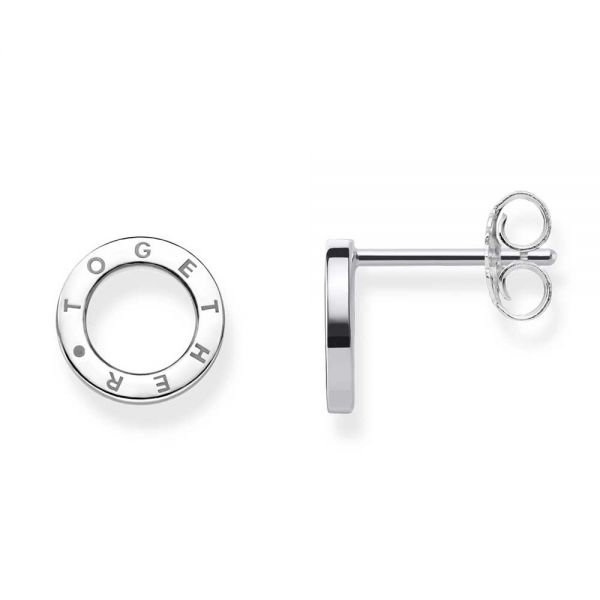 Thomas Sabo Sterling Silver Circles Together Stud Earrings