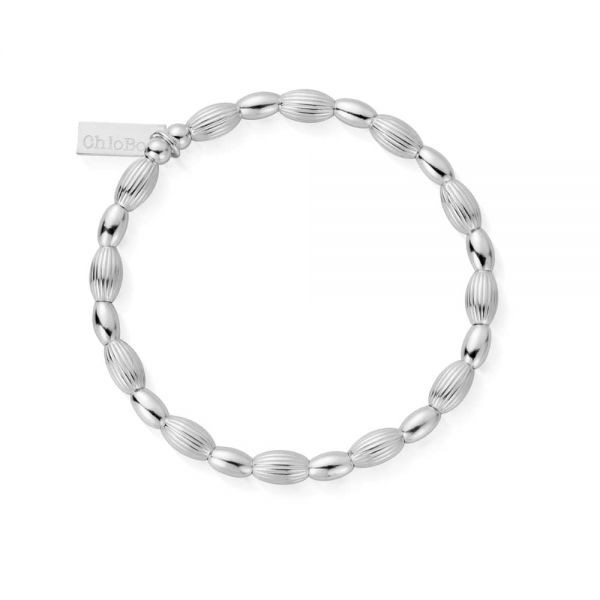 ChloBo Cosmic Connection Sterling Silver Double Rice Bracelet