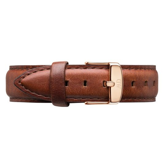 Daniel Wellington 18mm St. Mawes Brown Leather Watch Strap