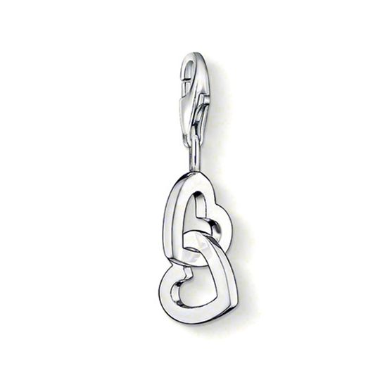Thomas Sabo Sterling Silver Linked Heart Charm