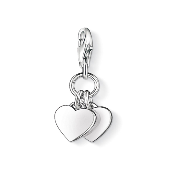 Thomas Sabo Sterling Silver Two Hearts Charm