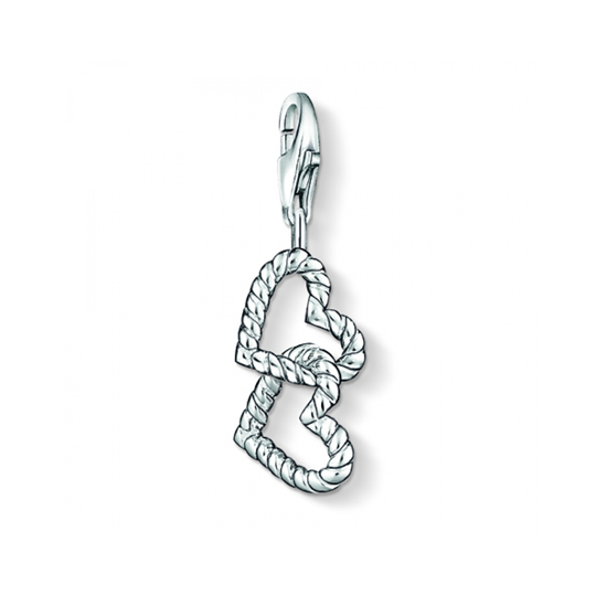 Thomas Sabo Sterling Silver Twined Hearts Charm