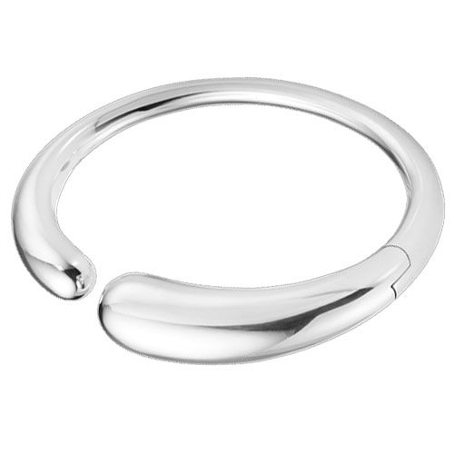 Georg Jensen Sterling Silver Mercy Hinged Bangle - 2 Sizes