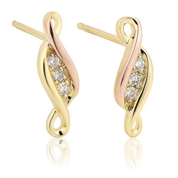Clogau Past Present Future Earrings