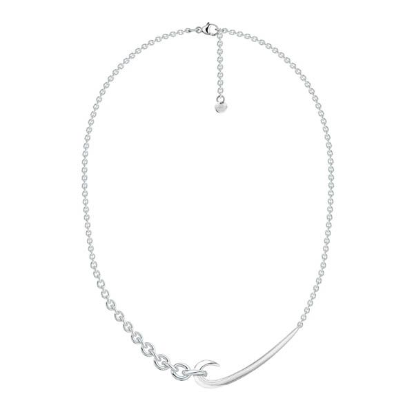 Shaun Leane Silver Hook Chain Choker Pendant Necklace
