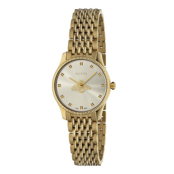 Gucci G-Timeless Yellow Gold Bee Motif Ladies Watch