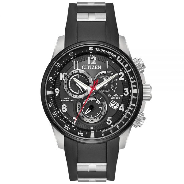 Citizen Men's Limited Edition AT Alarm Radio Controlled Chronograph Eco-Drive Watch