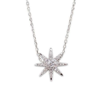 CARAT* London Sterling Silver Atrias Stella Necklace