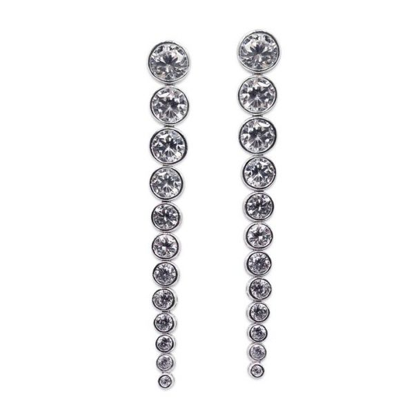 CARAT* London Sterling Silver Quentin Drop Earrings