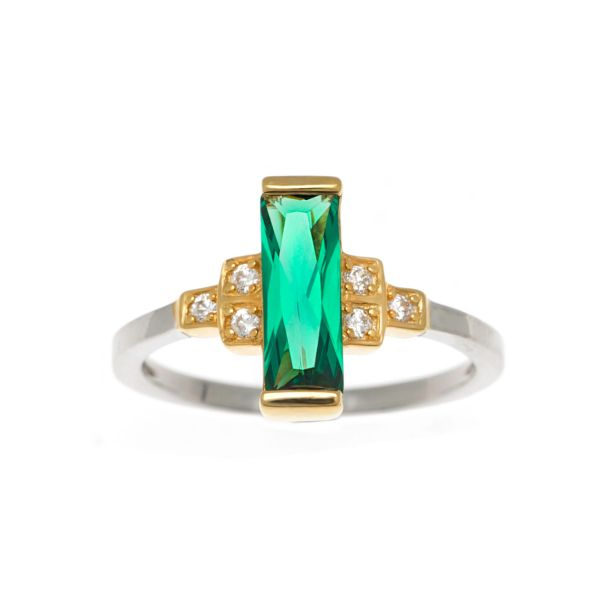 Laura Vann Audrey Green Ring