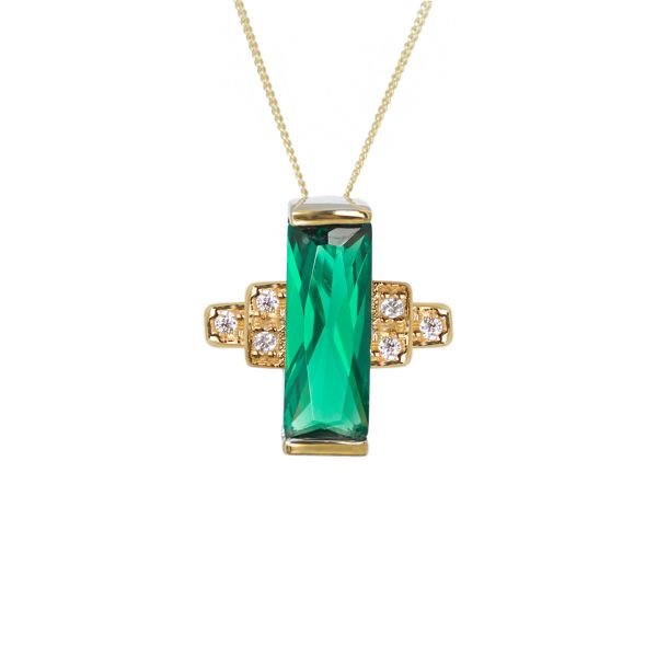 Laura Vann Audrey Green Necklace