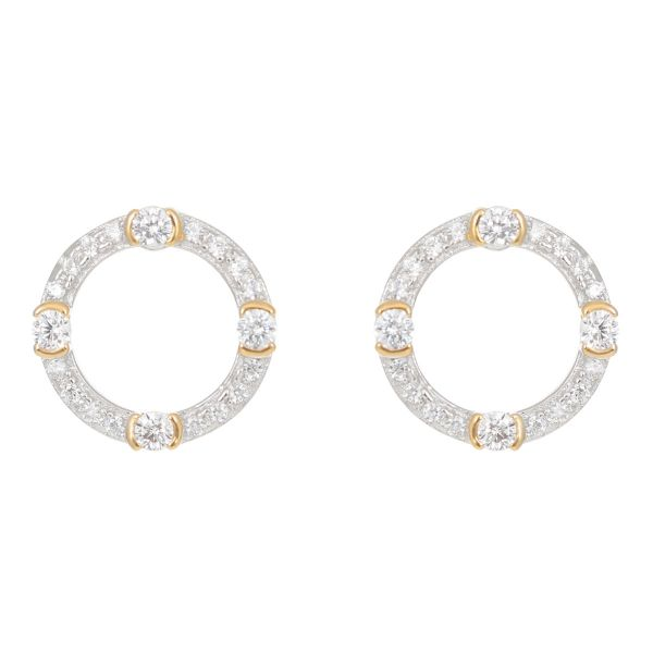 Laura Vann Luna Gold Circle Stud Earrings