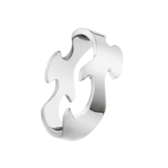 Georg Jensen 18ct White Gold Fusion Centre Ring