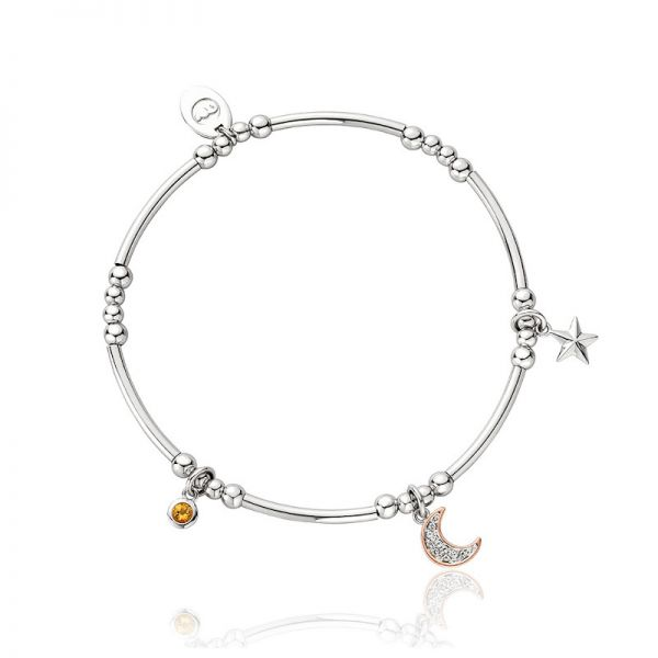 Clogau Out of this World Affinity Beaded Bracelet with Silver & Rose Gold Charms