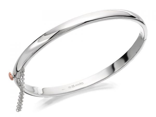 Clogau Sterling Silver Cariad Bangle