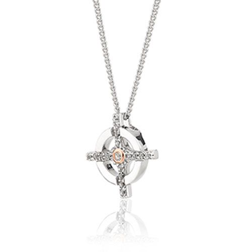 Clogau Croes Naid Pendant with Silver Chain