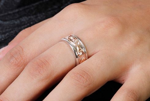 Clogau Tree of Life Ring with Sterling Silver & 9ct Rose Gold