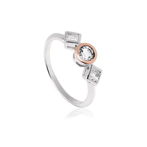 Clogau Welsh Royalty Anniversary White Topaz Ring