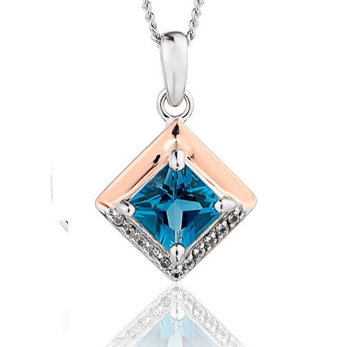 Clogau Kensington Love Story Pendant with Silver Chain