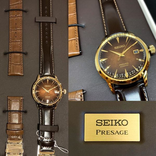 Seiko Brown Dial Presage Cocktail Time Limited Edition Automatic Watch