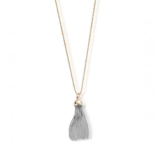 CHLOBO DIAMOND CUT CHAIN WITH ROSE CAP TASSEL PENDANT