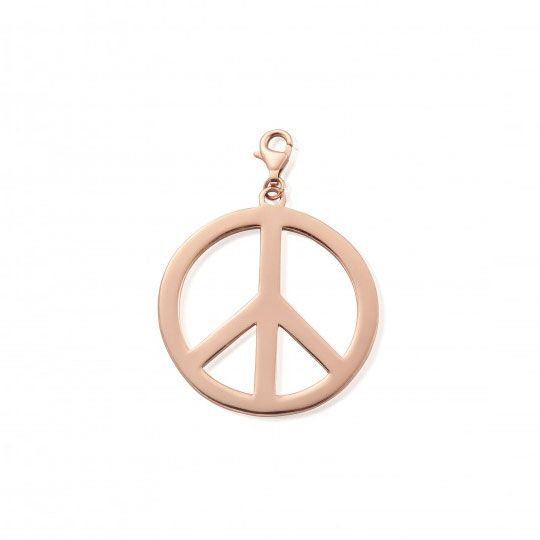 Chlobo Large Rose Gold Plated Peace Pendant
