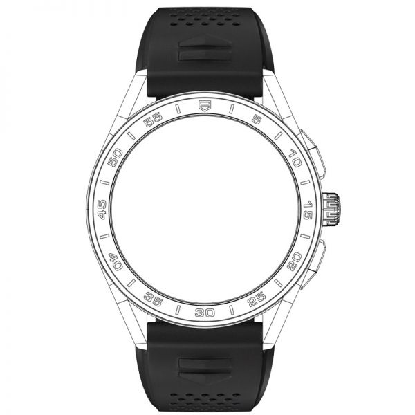 TAG Heuer Connected Strap - Black Rubber