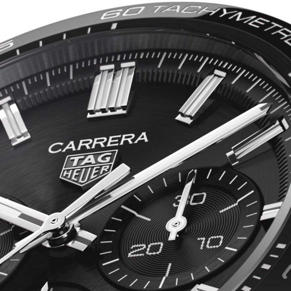 TAG Heuer Men's Carrera Calibre Heuer 02 Black Dial Watch - CBN2A1B.BA0643