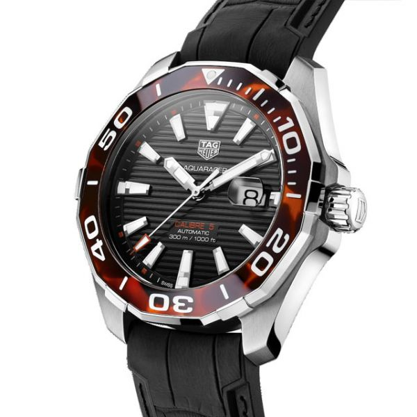 TAG Heuer Men's Brown Tortoise Shell Aquaracer Watch