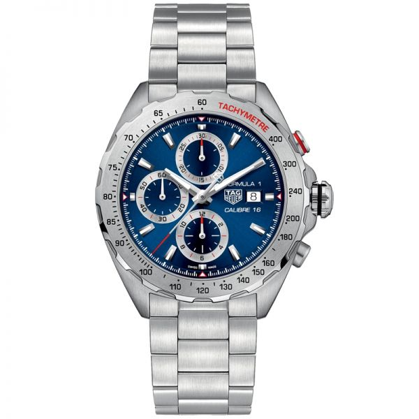 TAG Heuer Blue Dial Calibre 16 Chronograph Formula 1 Watch