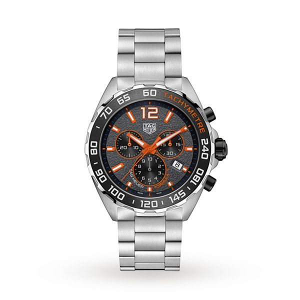 TAG Heuer Formula 1 Chronograph Grey and Orange Dial Men's Watch