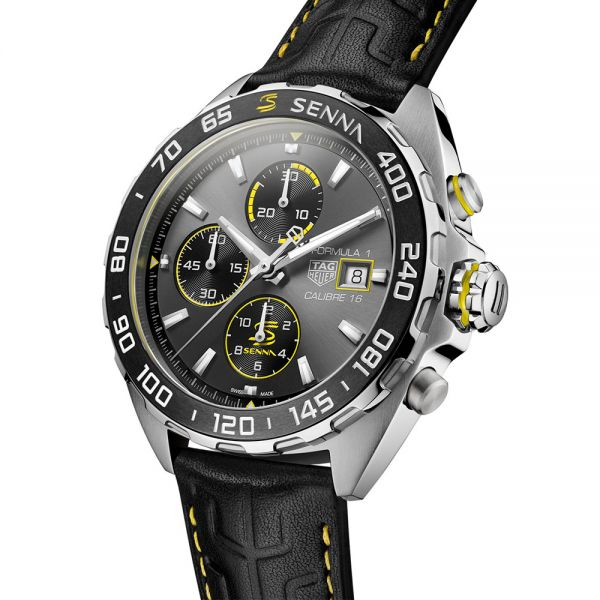 TAG Heuer Formula 1 Calibre 16 Chronograph Senna Special Edition 2020 Watch with Leather Strap