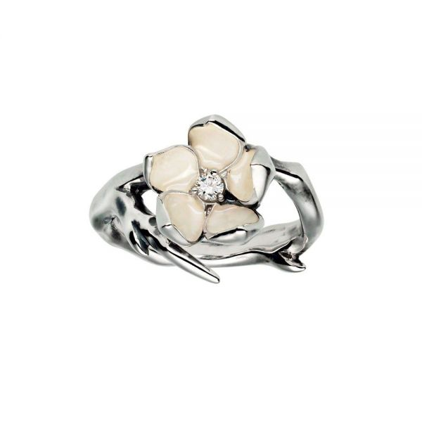 Shaun Leane Cherry Blossom Sterling Silver & Diamond Ring