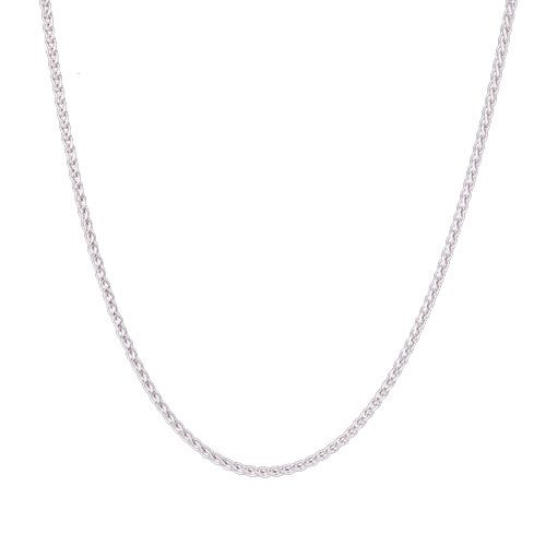 Steffans 9ct White Gold Diamond 'F' Initial Pendant Necklace