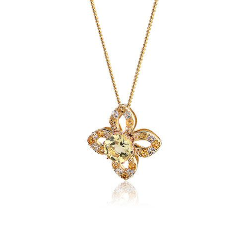 Clogau Celandine Pendant with 9ct Gold Chain