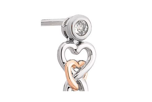 Clogau Lovespoon Earrings with White Topaz