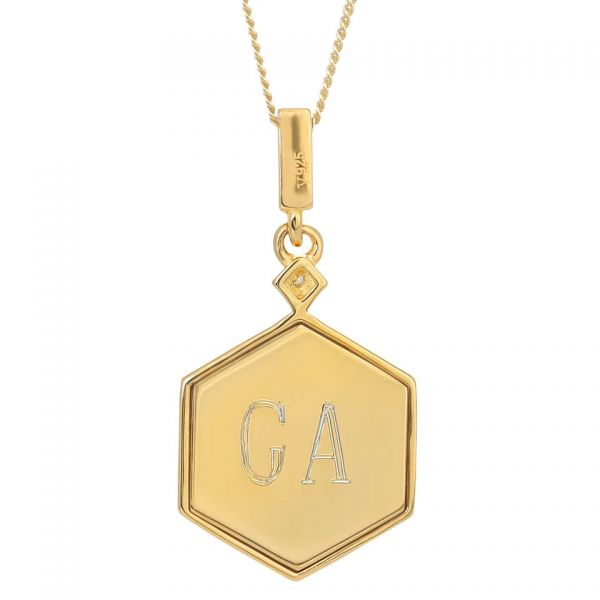 Laura Vann Darcy Green Gold Pendant Necklace