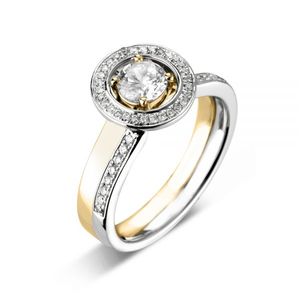 18ct White Gold Diamond Halo Ring Enhancer