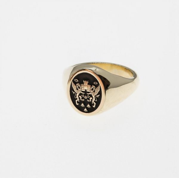 18ct Yellow Gold Northampton Saints Rugby Collection Signet Ring